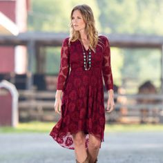 Get ready for warmer weather with women's western dresses and skirts. Pair these beautiful dresses with cowboy boots and bling sunglasses for a fashionable look. Western Dress With Boots, Western Dresses For Women, Dresses With Cowboy Boots, Western Wear, Cowgirl Outfits, Cowboy Hats, Fall Formal Dresses, Elegant Dresses, Beautiful Dresses