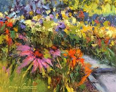 """Sweet Summer Scent by Monique Carr Oil ~ 8"""" x 10"""""""