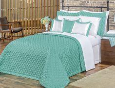 07146cbe9d Kit Colcha Vilela Enxovais Casal Queen Tiffany 5 Pçs Azul