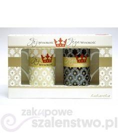 Komplet dwóch delikatnych kubków z porcelany, o poj. 0.25l, w eleganckim opakowaniu, można myć w zmywarce