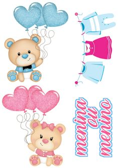 Baby Shower, Pictures To Draw, Cute Drawings, All The Colors, Cake Toppers, Gift Tags, Decoupage, Birthdays, Card Making