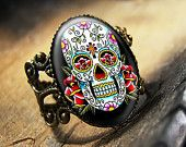 Vintage Beauty Traditional Tattoo Flash Antique Bronze Ring 507-AR.
