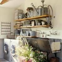 Utility Rooms Design Ideas - Boot, Laundry and Flower Rooms Utility Room Designs, Resin Patio Furniture, Basement Laundry, Laundry Rooms, Garden Floor, Flower Room, Room Shelves, Room Doors, Open Shelving