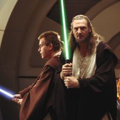 "Unlike other Jedi Masters, who often lose themselves in the meditation of the unifying Force, Qui-Gon Jinn lived for the moment, espousing a philosophy of ""feel, don't think -- use your instincts."" —"