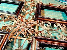 How to Make a Pretty Frame With Paper Tubes!