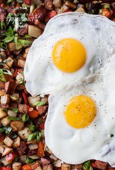 Potato Keilbasa Breakfast Hash  bloggingoverthyme.com