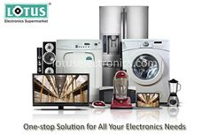 Lotus Electronics is one one-stop-destination for all your electronics needs. Its online electronics shopping site www.lotuselectronics.com facilitates safe convenient online shopping for the customers. From Lotus online electronic store you can buy top and leading brands products like Sony, LG, Whirlpool, Nikon, Apple, Bajaj, Morphy Richards, Samsung, Dell, Glen, Godrej, Havells etc.   Visit India's best online electronic shopping store- http://www.lotuselectronics.com