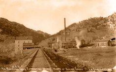 Marshall Gold Extraction Works, mouth of Boulder Canyon (1890s) - REPRODUCTIONS