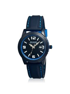 Crayo Unisex CR1303 Pop Black Silicone Watch at MYHABIT