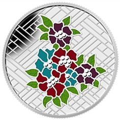 2014 $20 Craigdarroch Castle: Stained Glass Fine Silver Coin 1 Troy Ounce '14 Royal Canadian Mint RCM Silver Enamel, Silver Coins, Canadian Coins, Bullen, Brick Patterns, Coin Collecting, 1 Oz, Public Art, Colorful Flowers