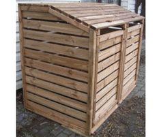 cache poubelles en bois et m tal duo burger id es pour le jardin pinterest produits et. Black Bedroom Furniture Sets. Home Design Ideas