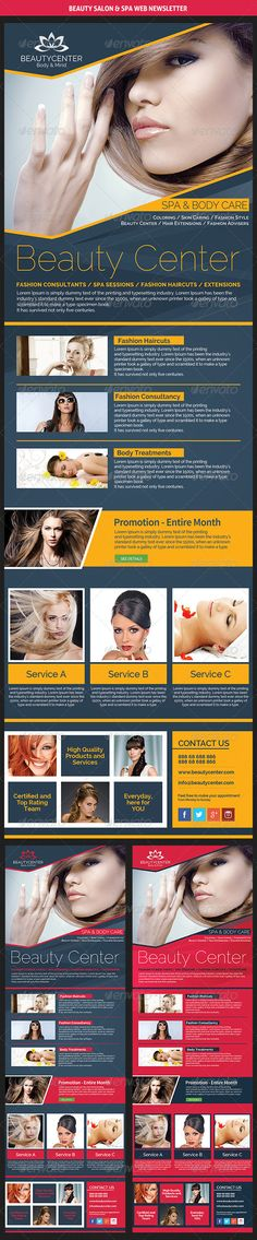 Beauty Center & Spa Web Newsletter