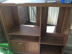 DIY entertainment center into closet - Imgur