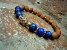 Yoga Bracelet / 6th Chakra / Third Eye Wrist Mala / by Syrena56, $29.00