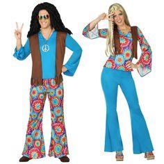 Pareja Hippies Azules #parejas #disfraces #carnaval