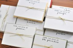 love these from @victoria, especially with gold envelopes