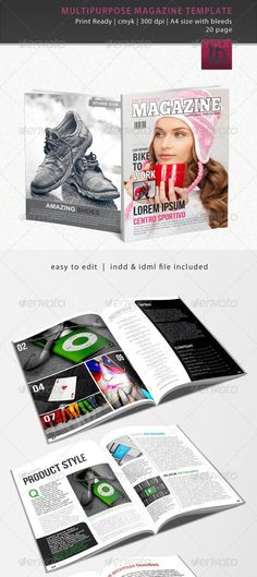 8 template 10 Beautiful Magazine Layout Templates for Indesign ...
