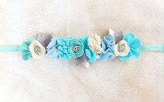 Felt Flower Crown // Full Crown // Magical Mint by fancyfreefinery