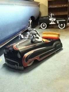 My son's pedal car