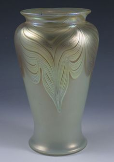 Loetz Art Nouveau Glass Vase with Phaenomen Pattern