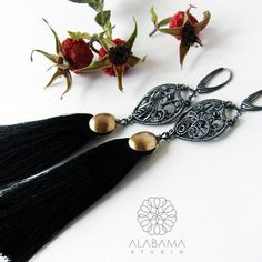 Black mystery  exclusive sterling silver wire by AlabamaStudio