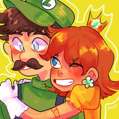 Daisy & Luigi. Super Smash Bros, Super Mario Bros, Luigi And Daisy, Princess Daisy, Mario Bros., 1 Peter, Video Game Characters, Funny Games, Cute Couples