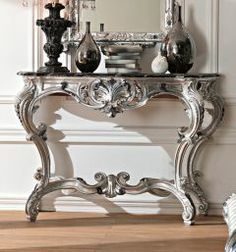 Paris Collection French silver Louis XV console table