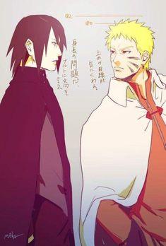 I don't like sasuke and naruto adult designs but pinning it just because sasunaru Anime Naruto, Naruto Comic, Naruto Shippuden Sasuke, Sasunaru, Comic Anime, Naruto Fan Art, Naruto Sasuke Sakura, Sarada Uchiha, Narusasu