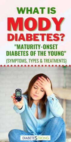 "MODY diabetes or ""maturity-onset diabetes of the young"" is a rare kind of diabetes that runs in families. It isn't nearly as common as type 1 and type 2 diabetes. In this article, we'll discuss what MODY is, the most common symptoms, the different types of MODY and their treatment options, and the longterm complications. #diabetes #diabetestips #managingdiabetes #MODYdiabetes #diabetesstrong"