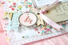 Add confetti to a scrapbook page