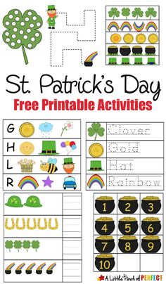 St. Patrick's Day Free Printable Activities for kids
