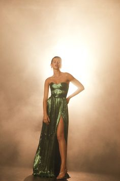 Holiday 2019 Look Book Strapless Dress Formal, Formal Dresses, Golden Glitter, Latest Fashion, Fashion Trends, Luxury Branding, Bright, Holiday, Design