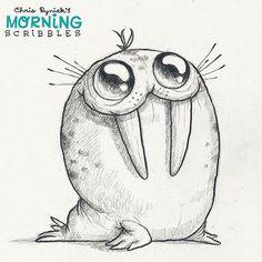 Spotty Walrus! #morningscribbles | von CHRIS RYNIAK