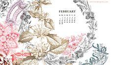 February Free Calendar Desktop and iPhone Wallpaper