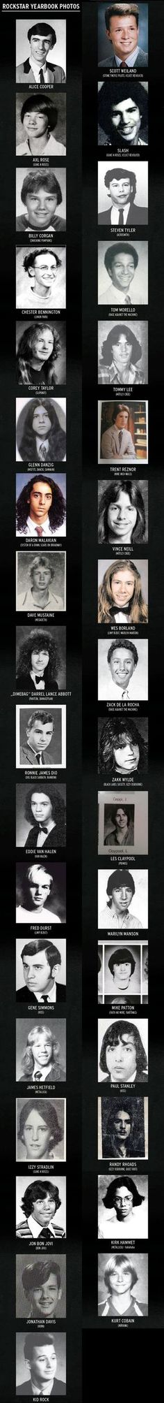 Rockstar Yearbook Photos, did Paul Stanley EVER have bad eyebrows?