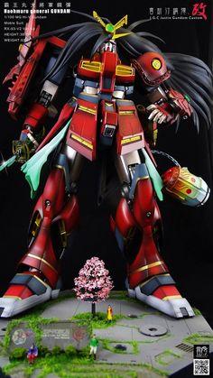 GUNDAM GUY: MG 1/100 Hi-Nu Gundam [Haohmaru General Gundam] - Custom Build