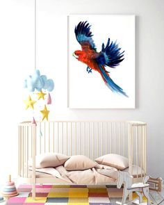 """Poster """"Parrot"""" * Beautiful Poster * Gift idea * Childroom * Modern Poster * Merry Gallery * Animal * Birds by MerryGallery on Etsy Beautiful Posters, True Love, Parrot, Merry, Birds, Trending Outfits, Gallery, Handmade Gifts, Modern"""