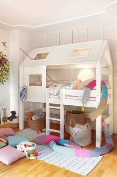 Bunk Beds, Loft, Furniture, Home Decor, Cabin, Child Room, Platform Bed, Gifts For Children, Asylum