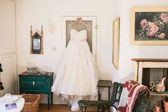 tulle wedding dress - photo by Still Music Photography http://ruffledblog.com/country-vintage-wedding-in-california