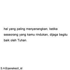 jika rindu, doakan. :)
