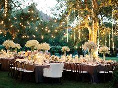 Image result for outdoor wedding lights