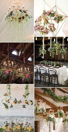 Fairytale Florals | Hanging Floral Decor | www.onefabday.com | #Wedding #Flowers