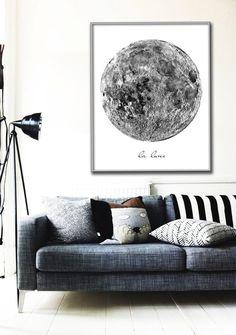 Vintage La Lune Moon Poster - etsy.com