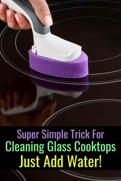 Clean glass cooktop the EASY way - this glass stove top cleaner is cheap and easy to use - and it works! Cleaning Tips How To Clean Glass Cooktop On Your Stove (the EASY way) - Decluttering Your Life