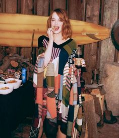 The Emma Stone WSJ. Magazine Editorial is Stylishly Rustic #popculture trendhunter.com