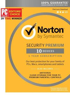 Norton Security Premium - 10 Device [Key Card] Amazon...