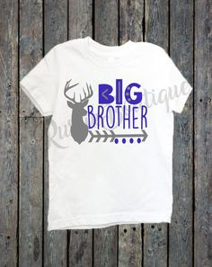 Big Brother Shirt/ Big Sister Shirt/ Sibling shirts/ Deer head shirt/ Tribal shirts/ big bro/ big sis/ hunting girl/ hunting boy by RustikBoutique on Etsy