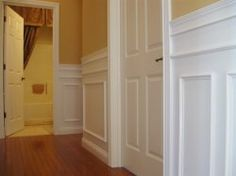This is by far the most comprehensive post I've ever seen on DIY wainscoting.  Even has links to purchase necessary items, links to design ideas, links to tutorials, beside the wainscoating they did looks uber expensive but must have cost a fraction of what it would cost normally!! NICE!! Return here when ready!! Wainscoting Ideas