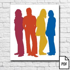 The BEATLES Cross Stitch Pattern [PDF FILE]    !THIS LISTING IS FOR A PATTERN ONLY - NOT THE FINISHED PRODUCT!    STITCH TYPE: FULL, HALF, QUARTER.