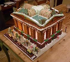 Gingerbread Library. Anyone talented enough to build one of these for Carnegie-Stout?
